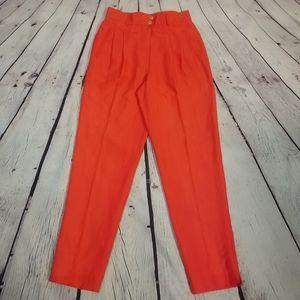 Mondi VINTAGE silk linen pants NWT sz 28